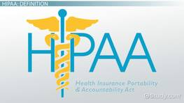 What is HIPAA? - Definition, Requirements & Laws