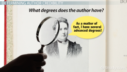 Author Credibility: Definition & Examples