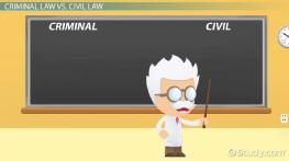 Criminal Law vs. Civil Law: Definitions and Differences
