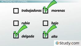 Describing People in Spanish: Practice Comprehension Activity