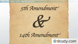 Due Process & Taking the Fifth & Fourteenth Amendments