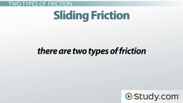 Friction: Definition and Types