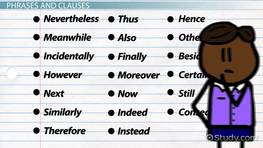 Conjunctive Adverb: Examples & Overview