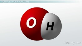 Hydroxide Ion: Definition & Formula