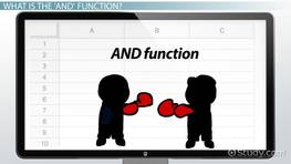 Using the AND function in Excel