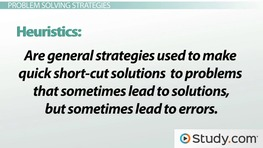 Types of Problems & Problem Solving Strategies
