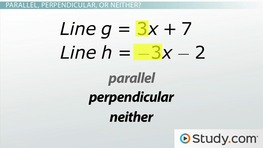 Parallel, Perpendicular and Transverse Lines