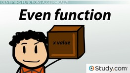 Even & Odd Functions: Definition & Examples