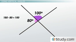 Vertical Angles & Complementary Angles: Definition & Examples