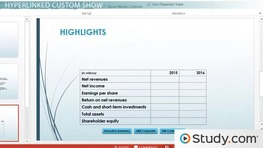 Planning Your PowerPoint Presentation: Custom Slideshows, Timing and Options