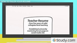 Tailoring the Content of Your Resume for a Job