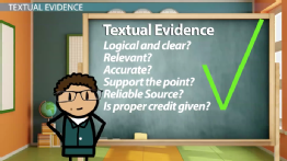 Textual Evidence & Interpreting an Informational Text