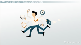 What is Efficient Communication? - Definition & Skills
