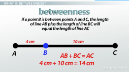 Betweenness of Points: Definition & Problems - Video