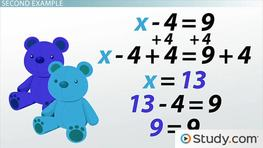 Solving Equations Using the Addition Principle