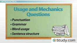 Strategy for Usage/Mechanics Questions on the ACT English