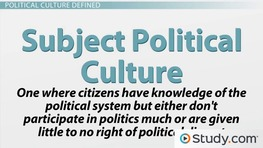 political culture subject