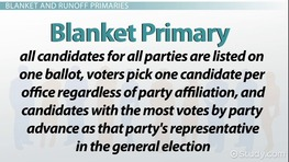 Types of Elections: Primary, General & Special