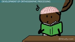 What is Orthographic Processing? - Definition & Explanation preview
