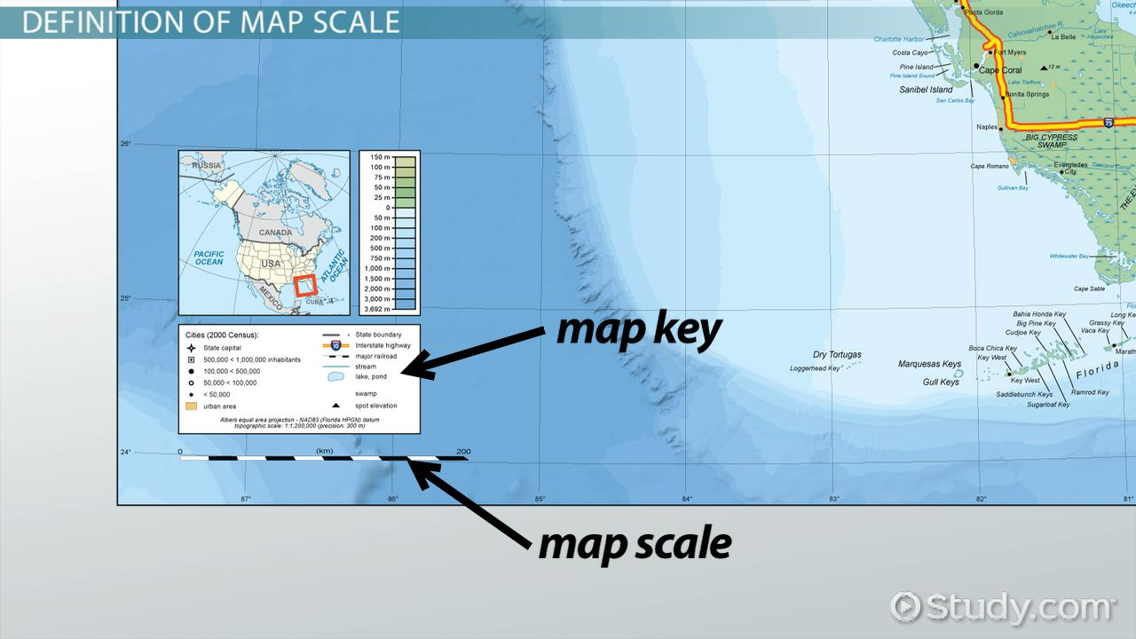 What is a Map Scale?   Definition, Types & Examples   Video