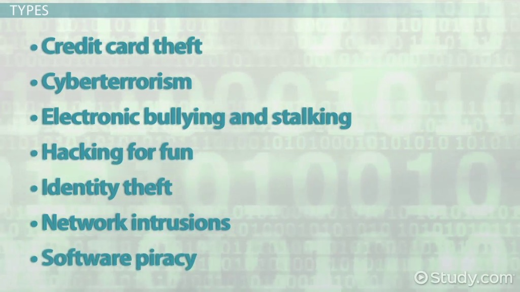 What Is Cyber Crime Definition Types Examples Video Lesson