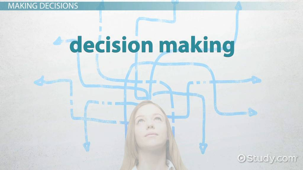 Decision Making  Definition   Types  Video   Lesson