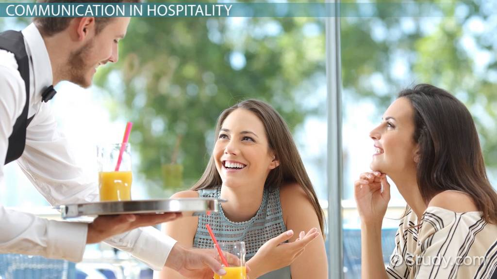 communication in the hospitality industry Communication as a means of sending and receiving information between two and more persons play a vital role in the hospital industry a perfect communication mode make the industry lively as it deals with various individual every day as such.
