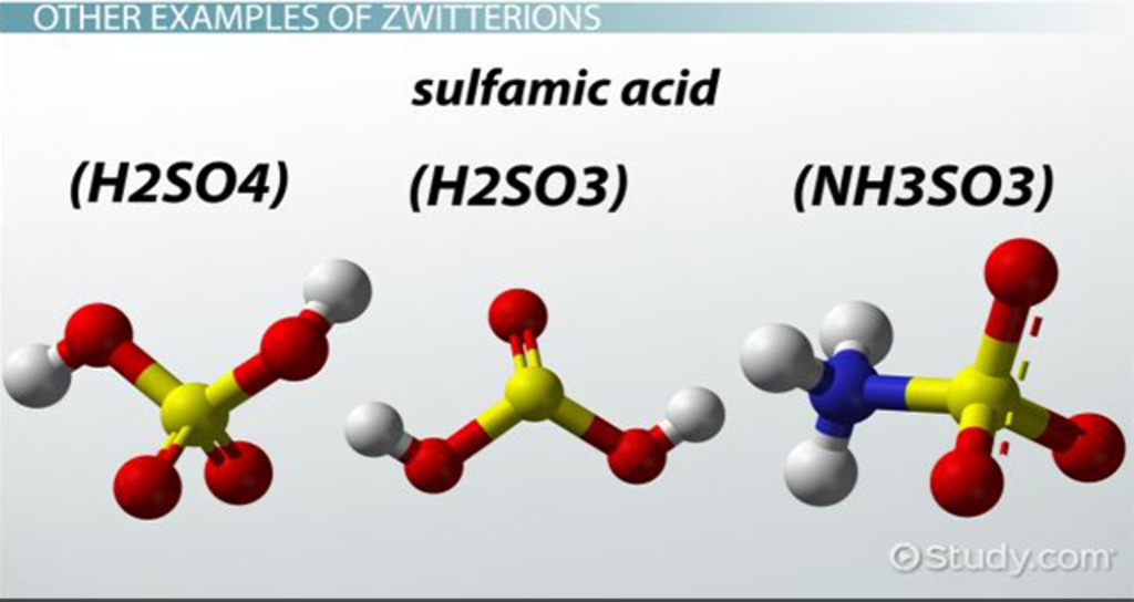 Zwitterion: Structure ...